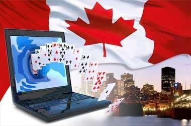 laptop deck of cards flag