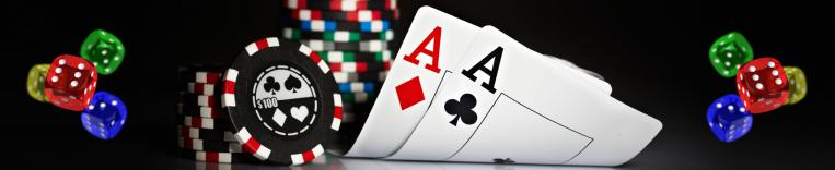 casino games, dice cards and casino chips